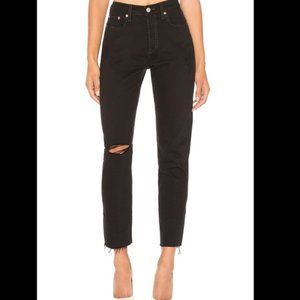 [Levi's] Wedgie Icon High Waisted Ripped Jeans